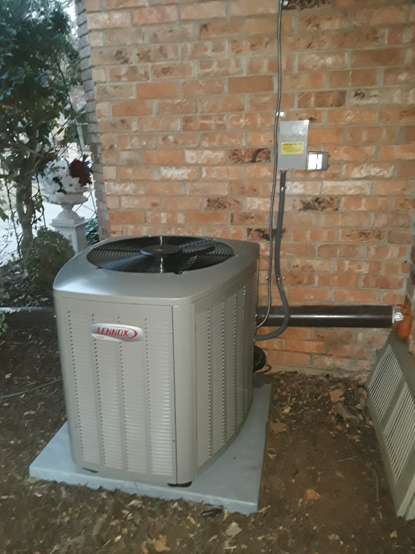 Colleyville, TX - Install new Lennox ac unit
