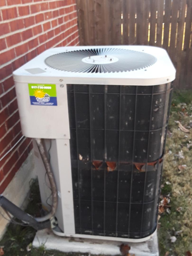 Euless, TX - Heater repair Goodman heat pump