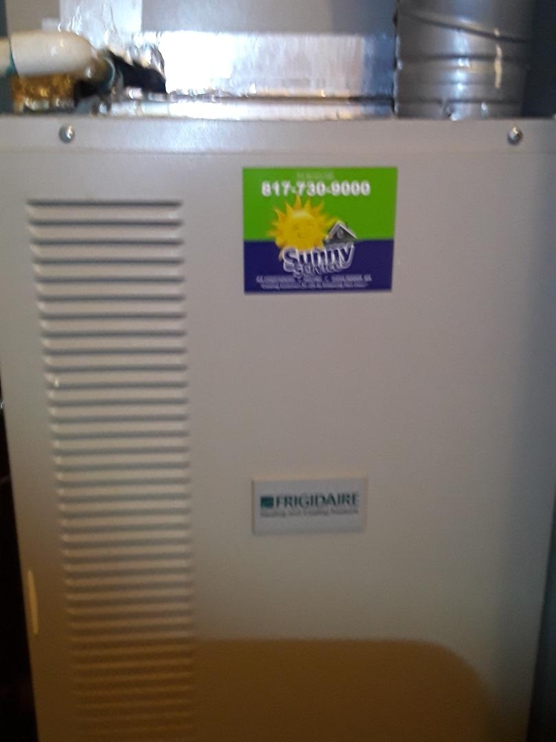 Bedford, TX - Heat repair Frigidaire gas furnace