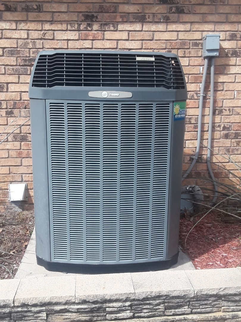 Bedford, TX -  Performing tune up on Trane XL19i system.