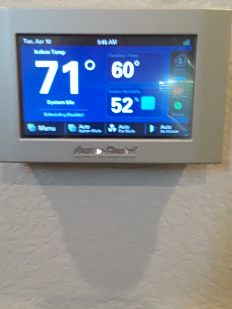 Southlake, TX - Installing Trane Communicating Thermostat.