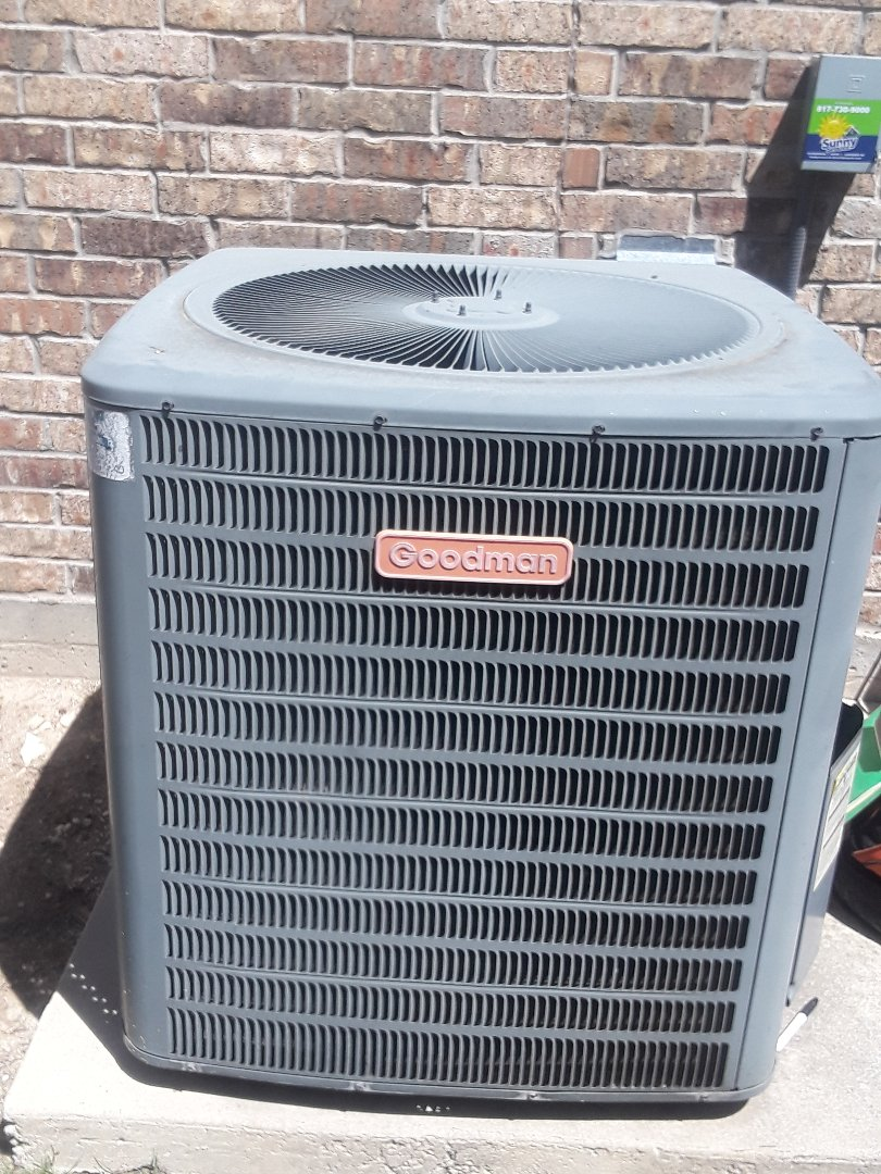 Saginaw, TX -  Service on Goodman system for no Cool air.