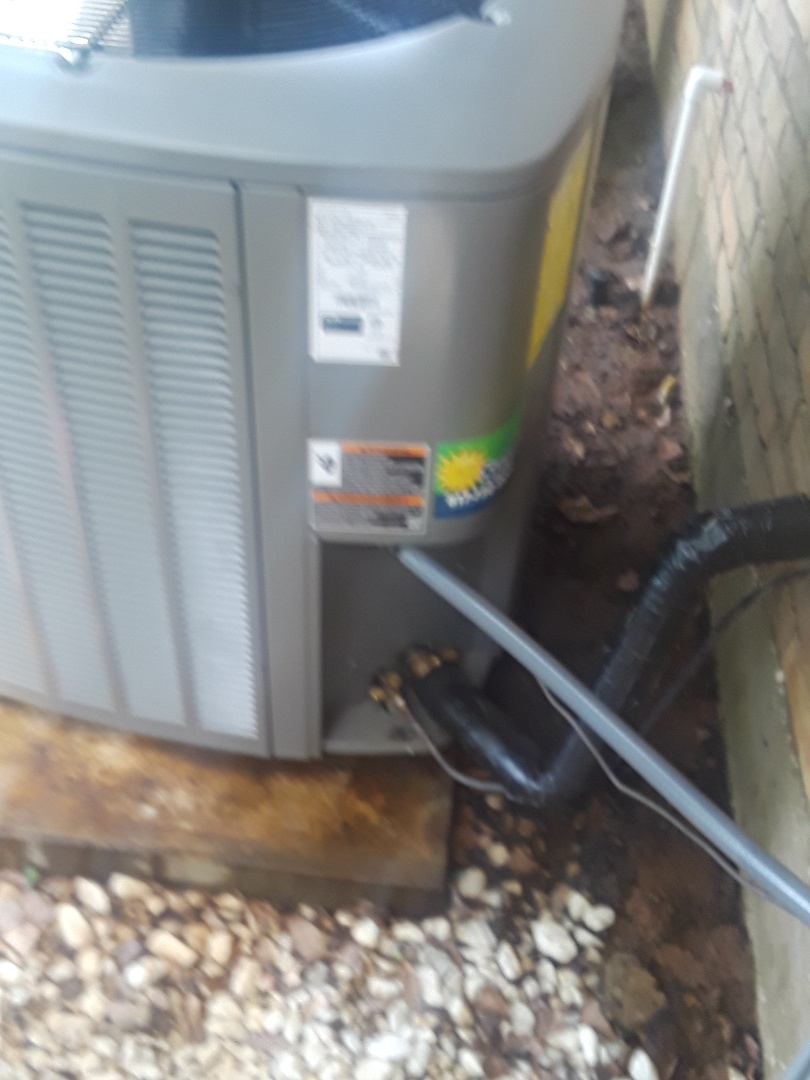 North Richland Hills, TX - Air conditioner maintenance on an American Standard.
