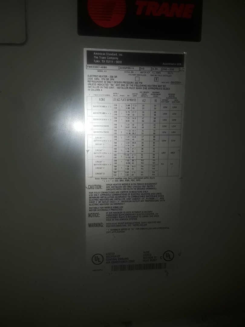 Bedford, TX - No cool service call for Trane system