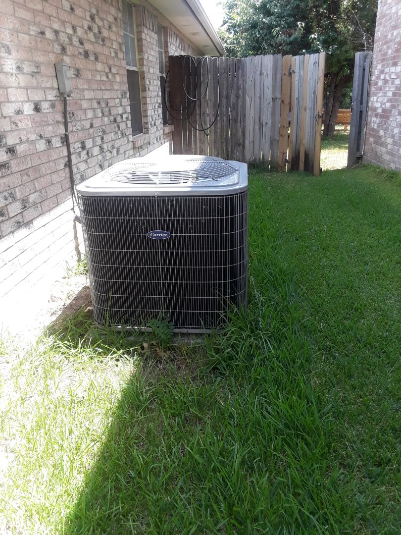 Fort Worth, TX - No cool service on a Carrier Unit.
