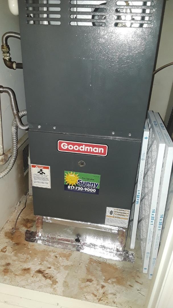 Grapevine, TX - System making loud noise on a Goodman