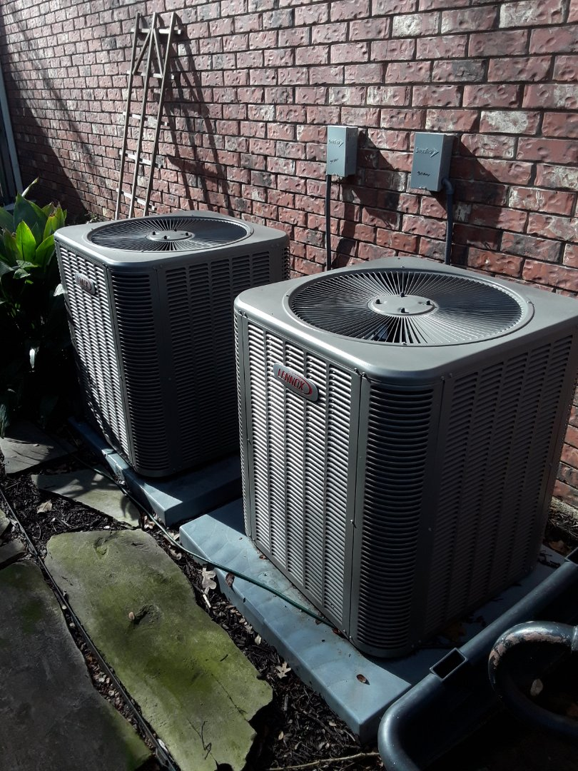 Bedford, TX - Heater maintenance on 2 Lennox heat pumps