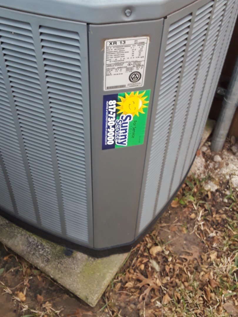 Lewisville, TX - Heat tune up on a Trane Furnace