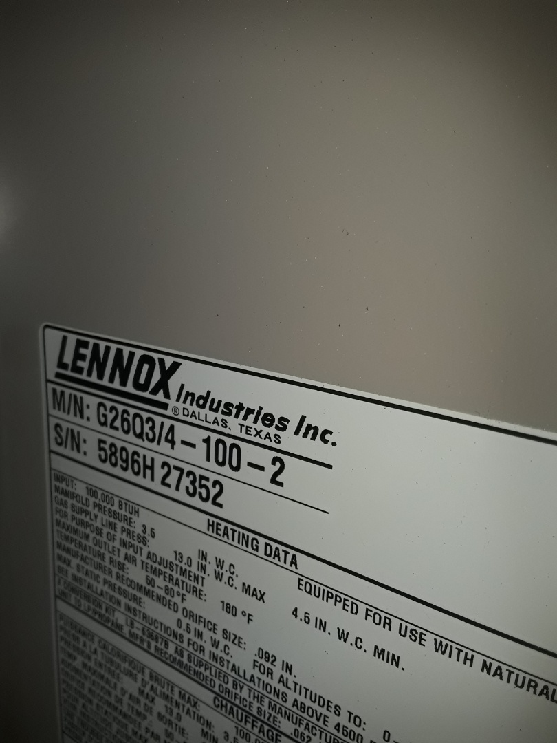 Fort Worth, TX - Furnace repair on a Lennox