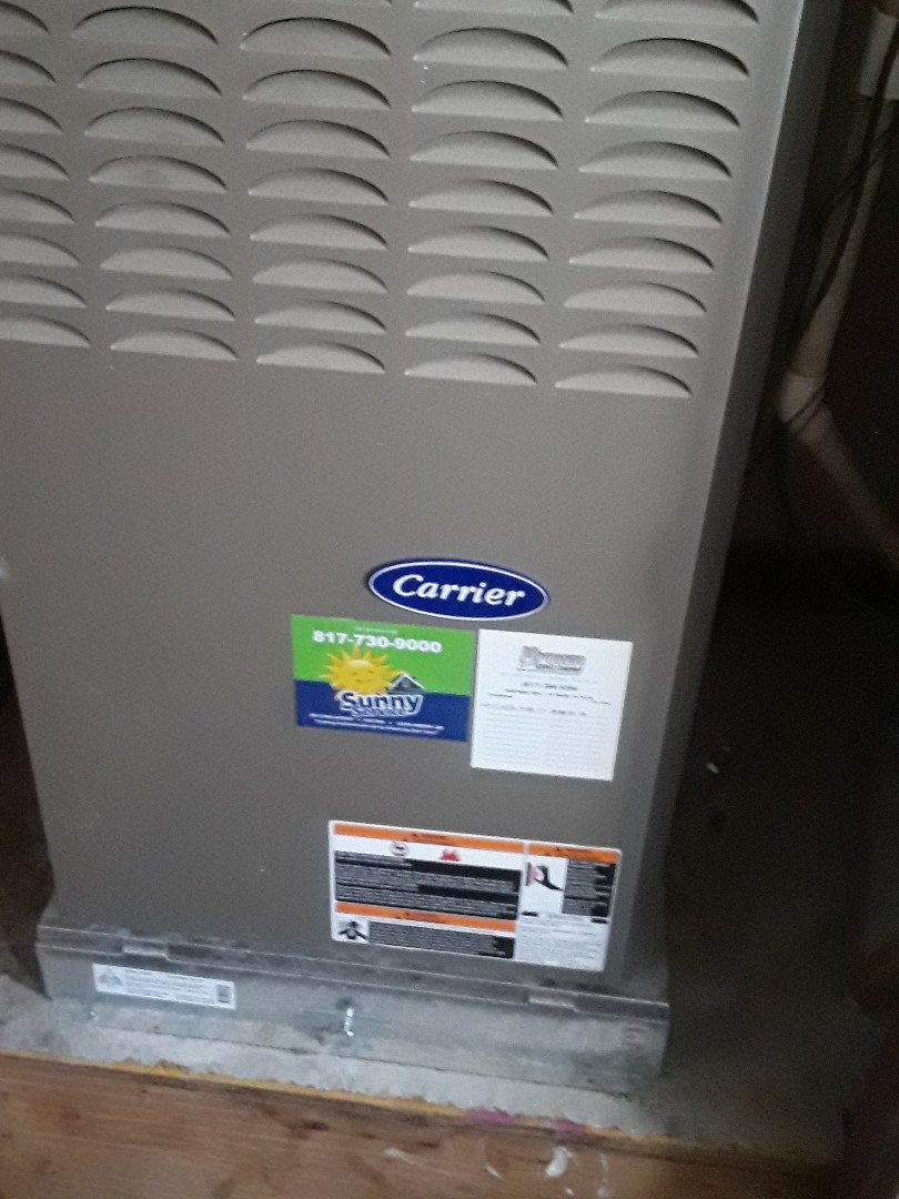 Richland Hills, TX - Heat maintenance on a Carrier furnace.
