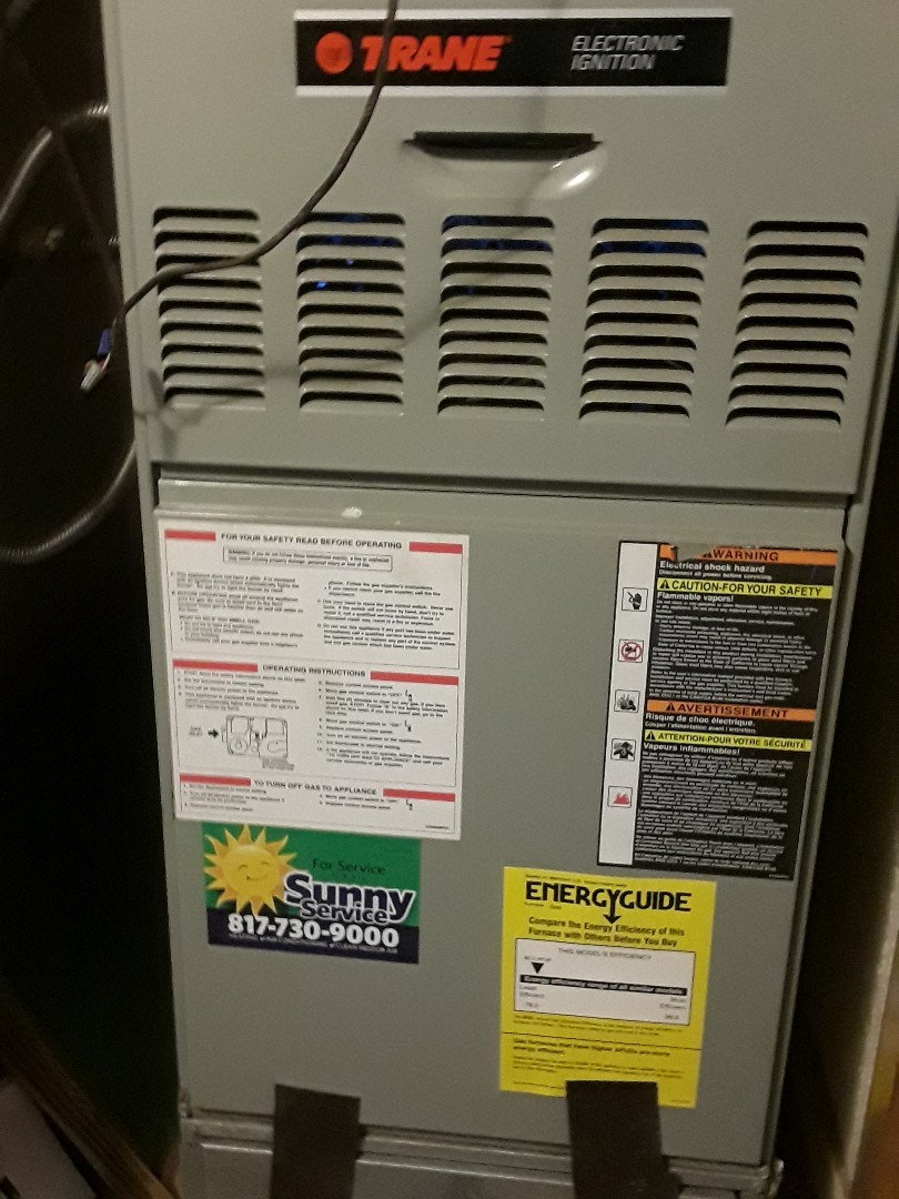 Arlington, TX - No heat on a Trane furnace.