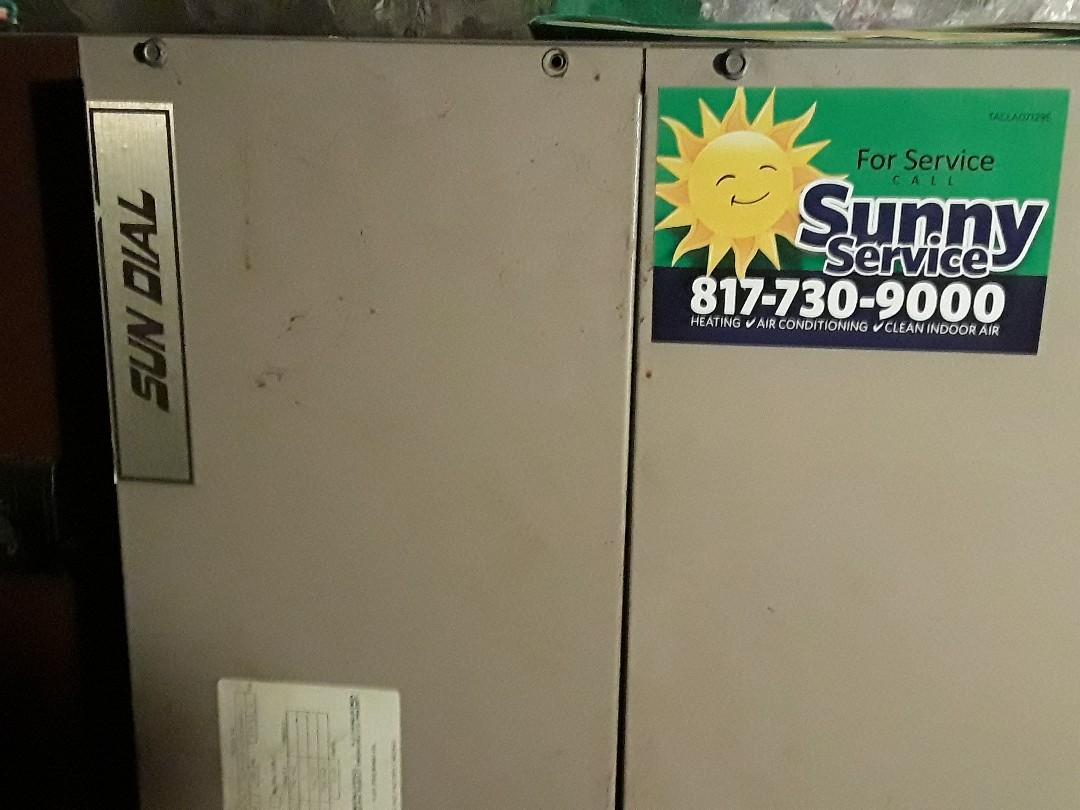 North Richland Hills, TX - Heat maintenance on a Sun Dial