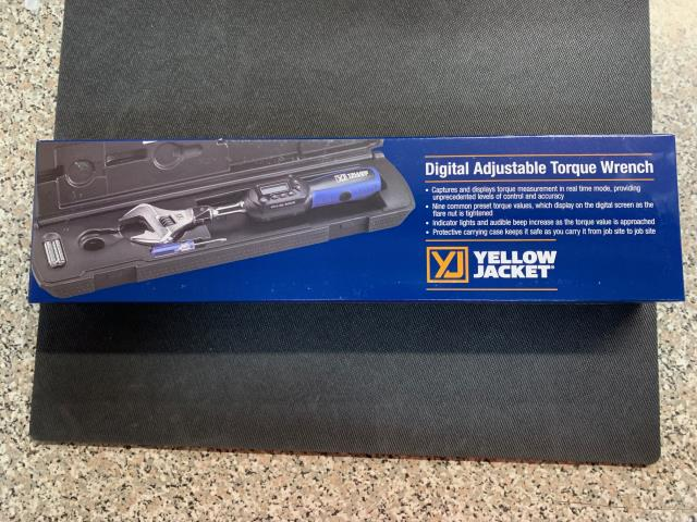 Sterling, MA - The YELLOW JACKET® Adjustable Digital Torque Wrench captures and displays torque measurement in real time mode, providing users with unprecedented levels of control and accuracy. Being sent out to Sterling, MA.