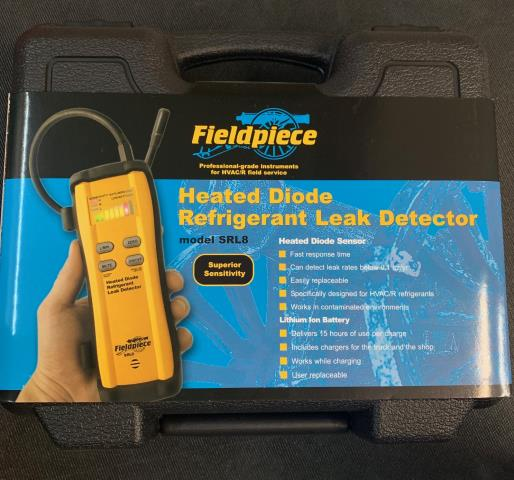 Overland Park, KS - With a 15-hour rechargeable, user replaceable battery. It lasts almost two full workdays on a single charge (if your hunting down leaks all day). The Fieldpiece SRL8 is a must have for any HVAC tech. Being sent to Overland Park, KS.