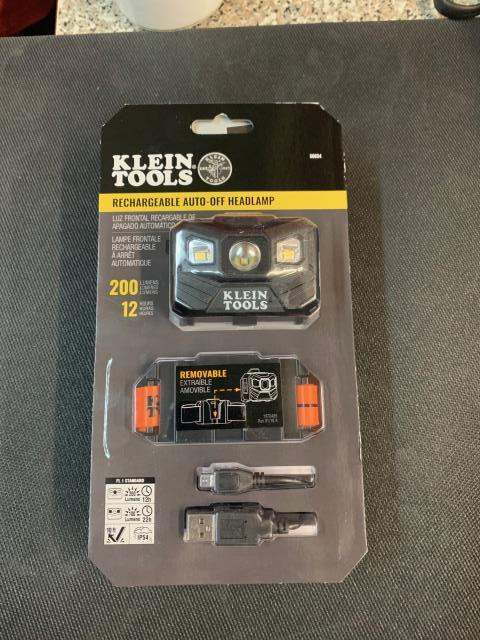 Sacramento, CA - Klein Tools' new durable headlamp gives you bright, all-day light on either the bright spot setting or the lower, wide-casting flood light setting. On its way to Sacramento, CA.