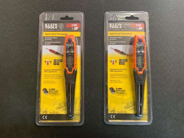 Albany, NY - Klein Tools ET05 is a digital thermometer that takes ambient and direct-contact readings in both Fahrenheit (°F) and Celsius (°C) scales.The rugged, portable design makes it the choice of HVAC field service teams. On its way to the Big Apple