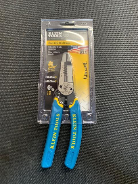 Douglass, KS - Klein's heavy-duty wire stripper is built with the durability of pliers and the sharpness and precision of a wire stripper. This American-made tool provides durable wire cutting, stripping and twisting plus bolt shearing in one tool. Being sent to Douglass, KS.
