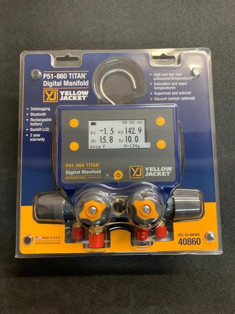 Paterson, NJ - The YELLOW JACKET® P51 TITAN™ Digital Manifold Series provides ultimate system measurements with ease. This 4-valve manifold provides fast and accurate measurements for refrigeration and a/c systems. On its way to Paterson, NJ.