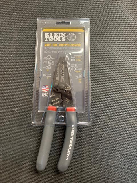 Angel Fire, NM - With the Klein 1019 Strip, cut, twist, shear and crimp with one tool. Features four dedicated crimpers for B connectors, insulated and non-insulated terminals plus Scotchlok® IDC connectors. On its way to Angel Fire, NM.