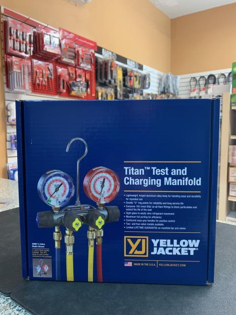 Los Angeles, CA - Titan manifold kits by Yellow Jacket are a perfect solution for all your HVACR needs. On its way to Northridge, CA.