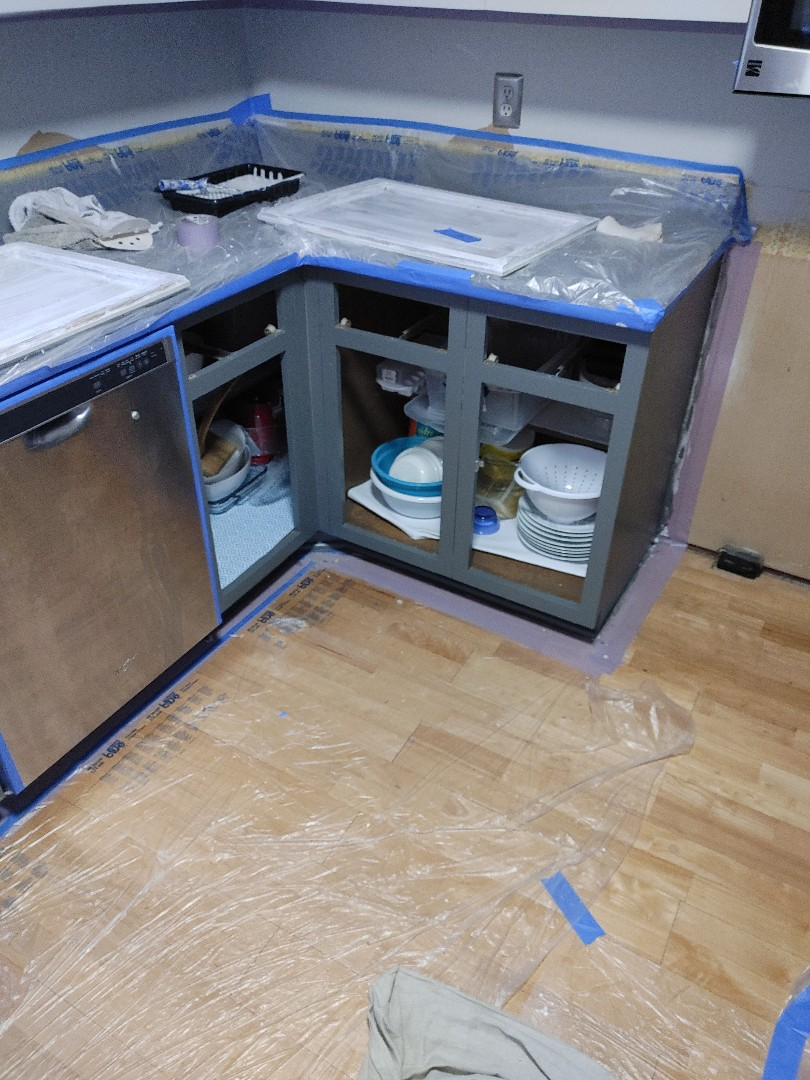 Greensboro, NC - Refinishing cabinets today!!!