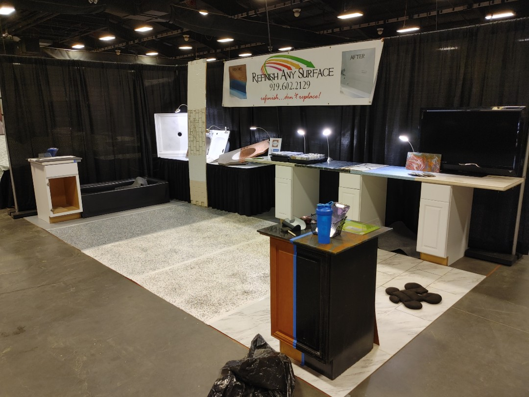 Raleigh, NC - Setting up at the Southern Home Show in Raleigh. Come check us out this weekend.