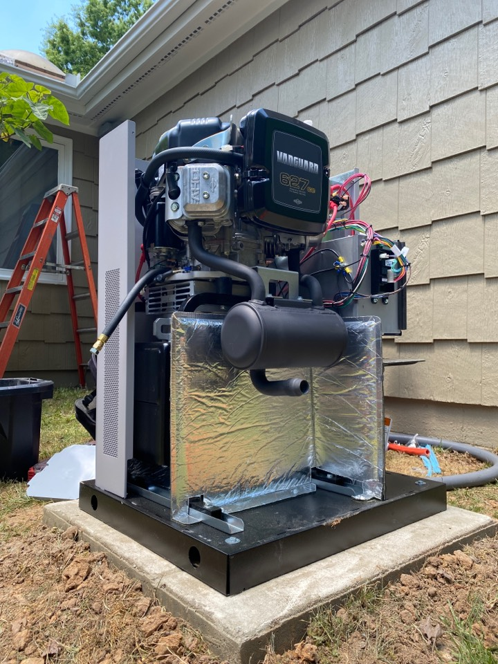 Installing a 12kW Briggs and Stratton Whole Home generator.