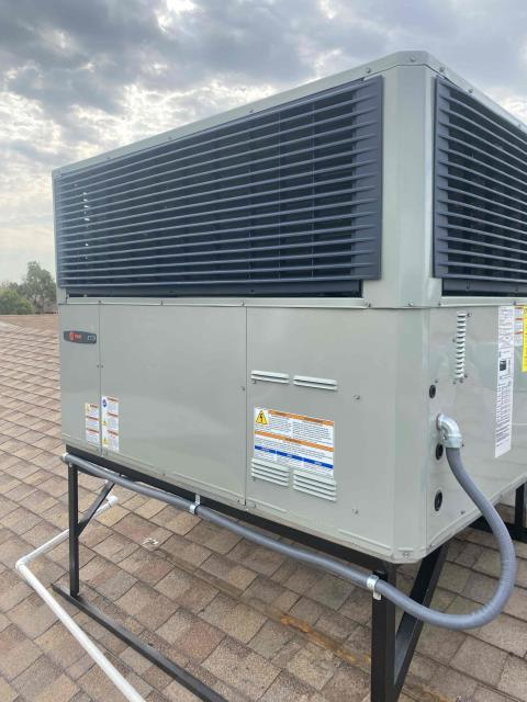 Chandler, AZ - Packaged air conditioning replacement, ducts, air sealing and insulation in Chandler, AZ