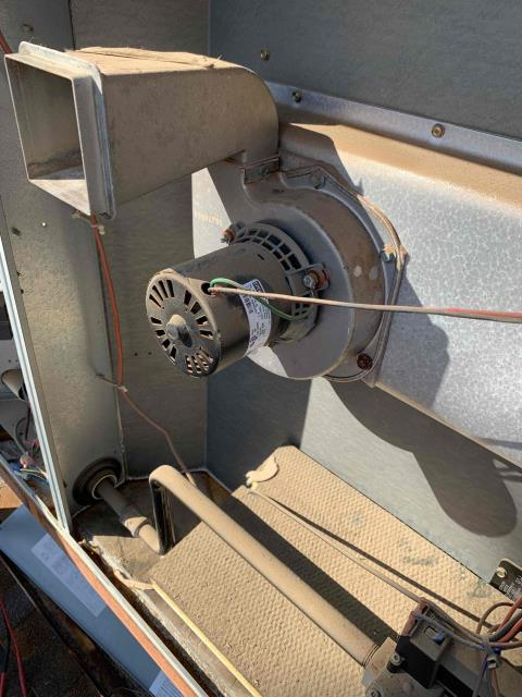 Phoenix, AZ - Inducer motor operation was prevented due to debris in housing.