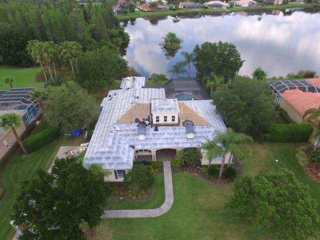 Lutz, FL - Tile Re-roof in Progress in Cheval