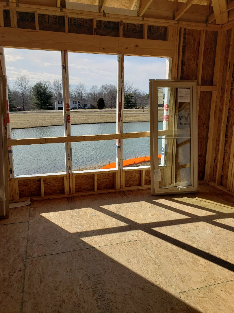 Dublin, OH - Laying out new construction home in Corazon for ductwork.