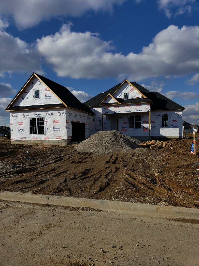 Lewis Center, OH - Installing ductwork in 3 Pillar new construction home near Lewis Center.