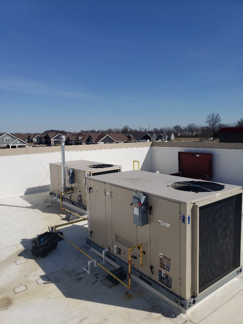 Lewis Center, OH - Performed preventative maintenance on two Lennox RTU systems for Verizon wireless