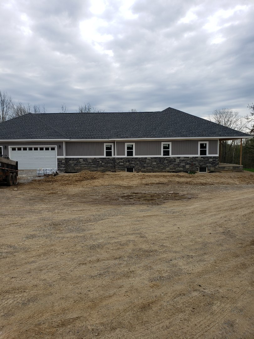 Mount Vernon, OH - Installing Waterfurnace 7 series geothermal heat pump in new construction home near Mt Vernon.