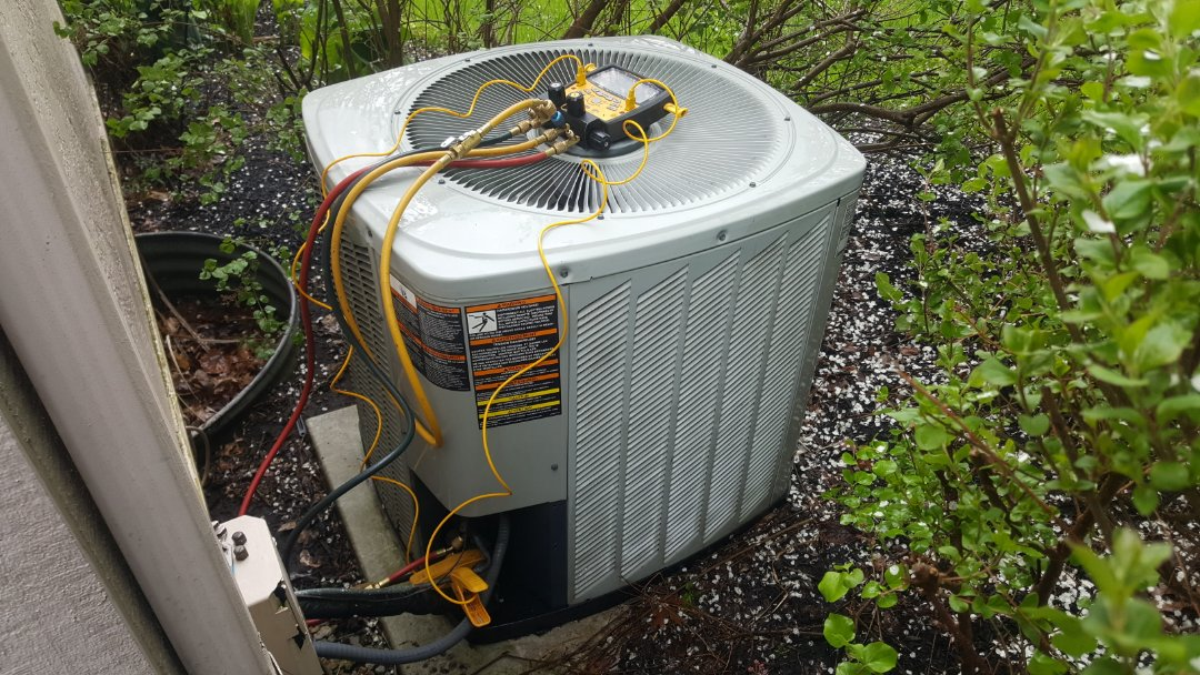 Westerville, OH - American Standard cooling system electronic tune up, inspection, and coil flush  Maple run, the woods on Indian Run Westerville Ohio