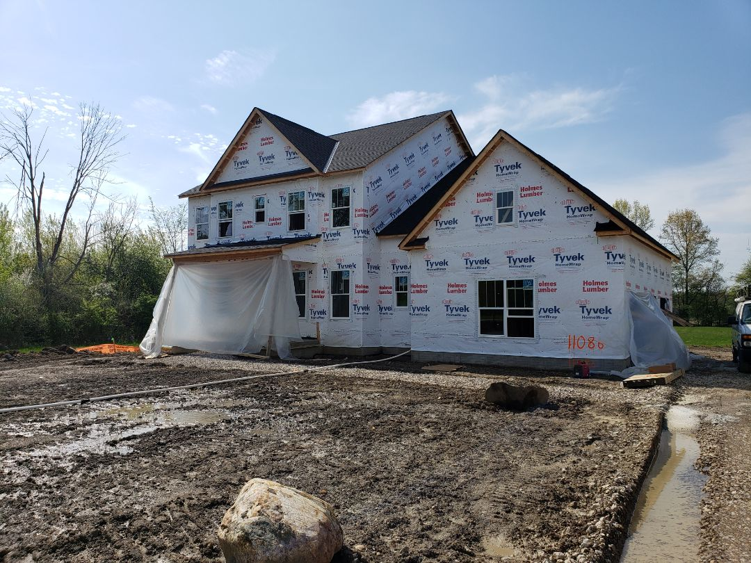 Galena, OH - Installing Carrier furnace and ductwork for new construction 3 Pillar home near Galena.