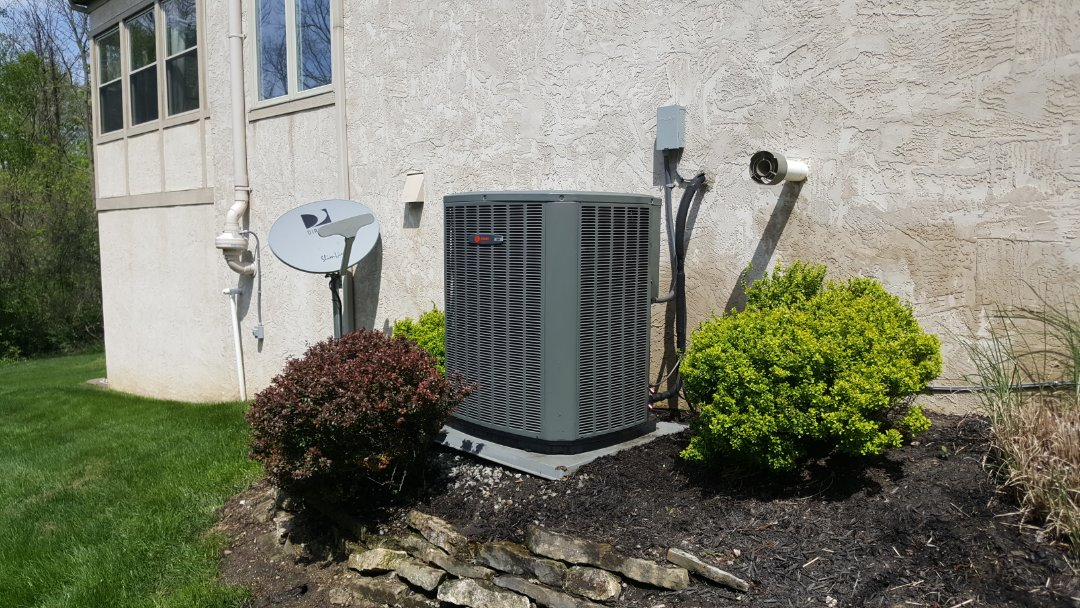 Westerville, OH - Trane XR & Trane XV95 Spring Seasonal maintenance inspection And air conditioner cleaning