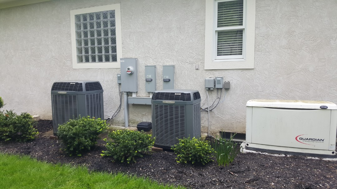 Galena, OH - Full to system Heating and Cooling real estate inspection tune-up cleaning and recharge  Trane xv90 & Trane xl14i