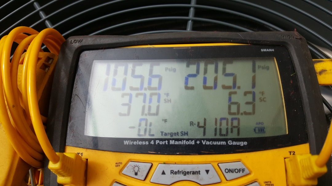 Westerville, OH - Genuine Honeywell puron refrigerant digital testing and charging  Trane XR AC warranty validation
