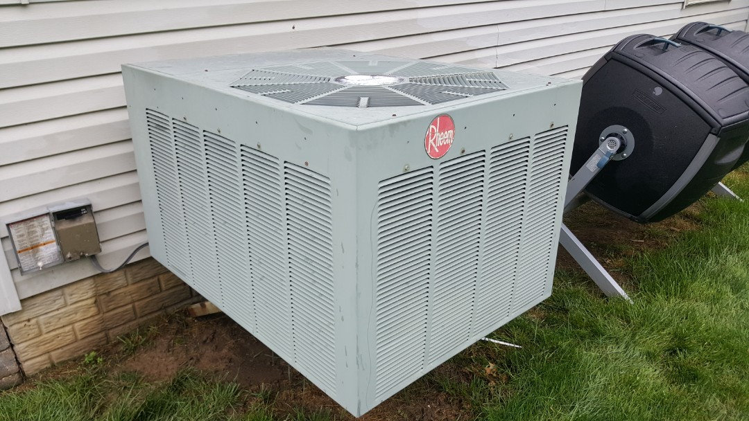 Westerville, OH - Rheem condenser coil cleaning