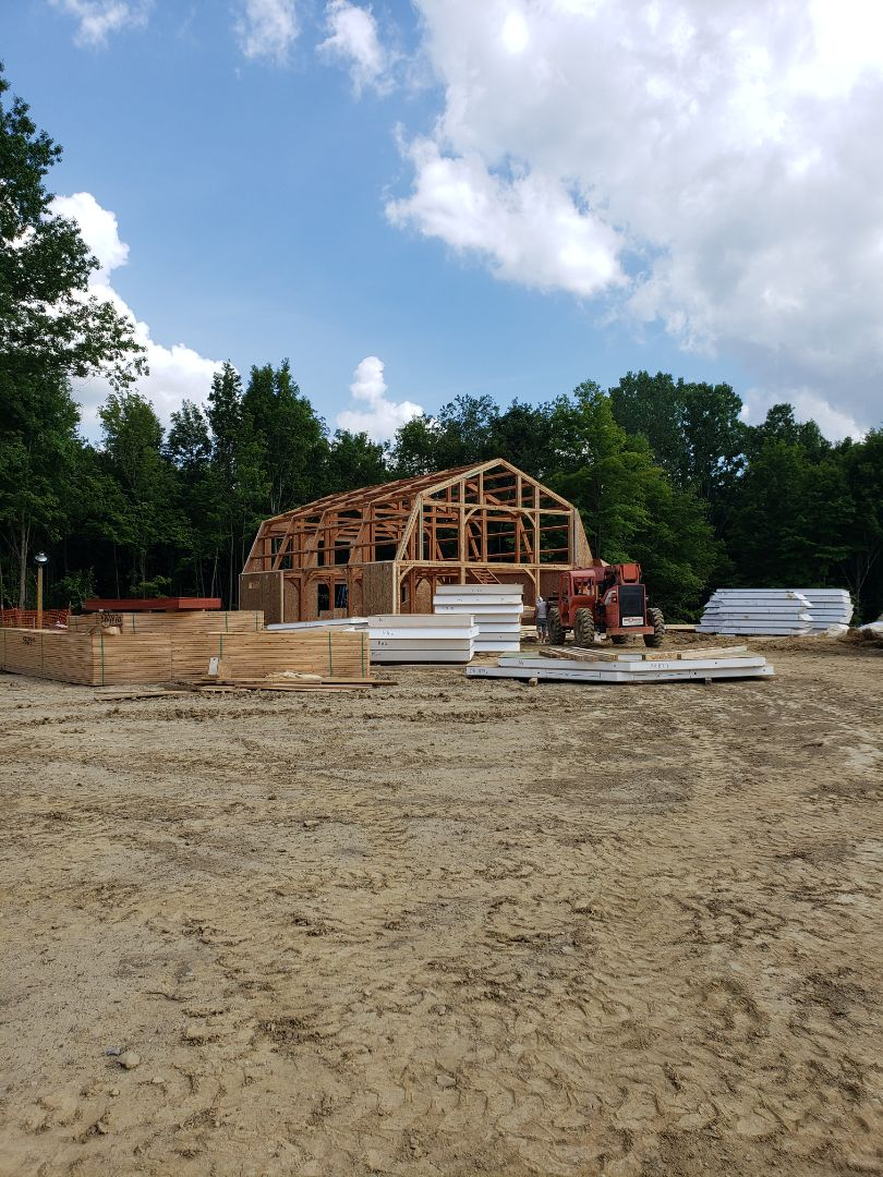 Johnstown, OH - Installing Trane system and ductwork in new construction timber framed home near Johnstown.