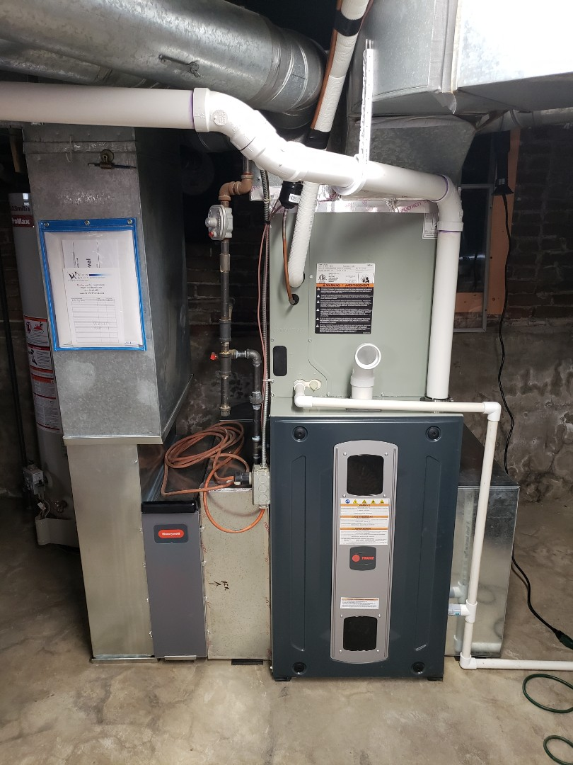 Delaware, OH - Trane furnace and air conditioner installation in Delaware.