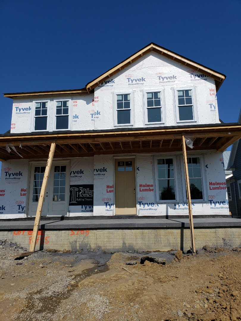 Lewis Center, OH - Installing Carrier system in 3 Pillar new construction home in Evan's farm near Lewis Center.
