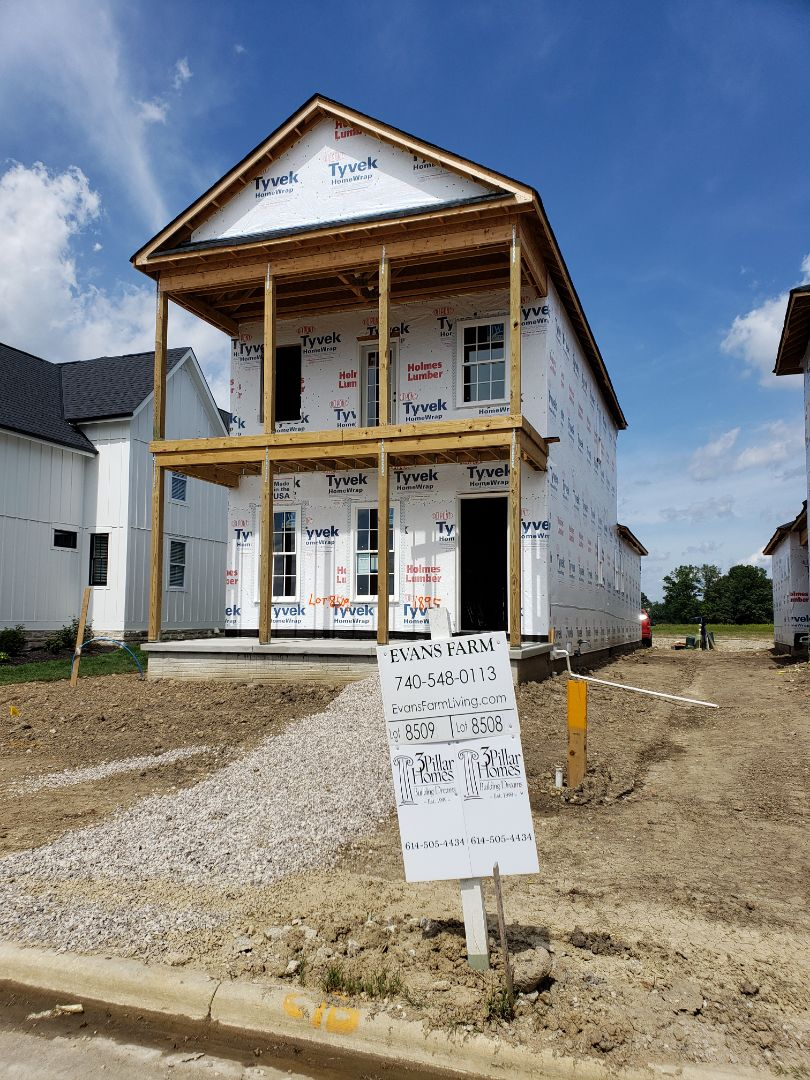 Lewis Center, OH - Installing Carrier furnace and ductwork in new construction 3 Pillar home in Evan's farm.