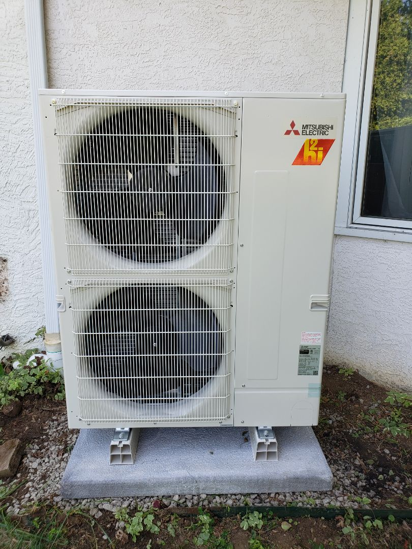 Mitsubishi heating and cooling system install near Dublin.