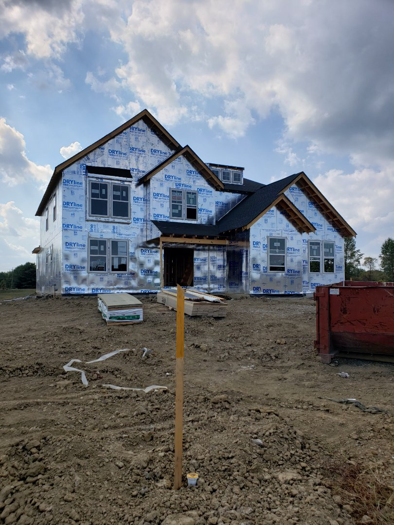 Delaware, OH - Installing hvac system in a new construction Fischer home near Delaware.