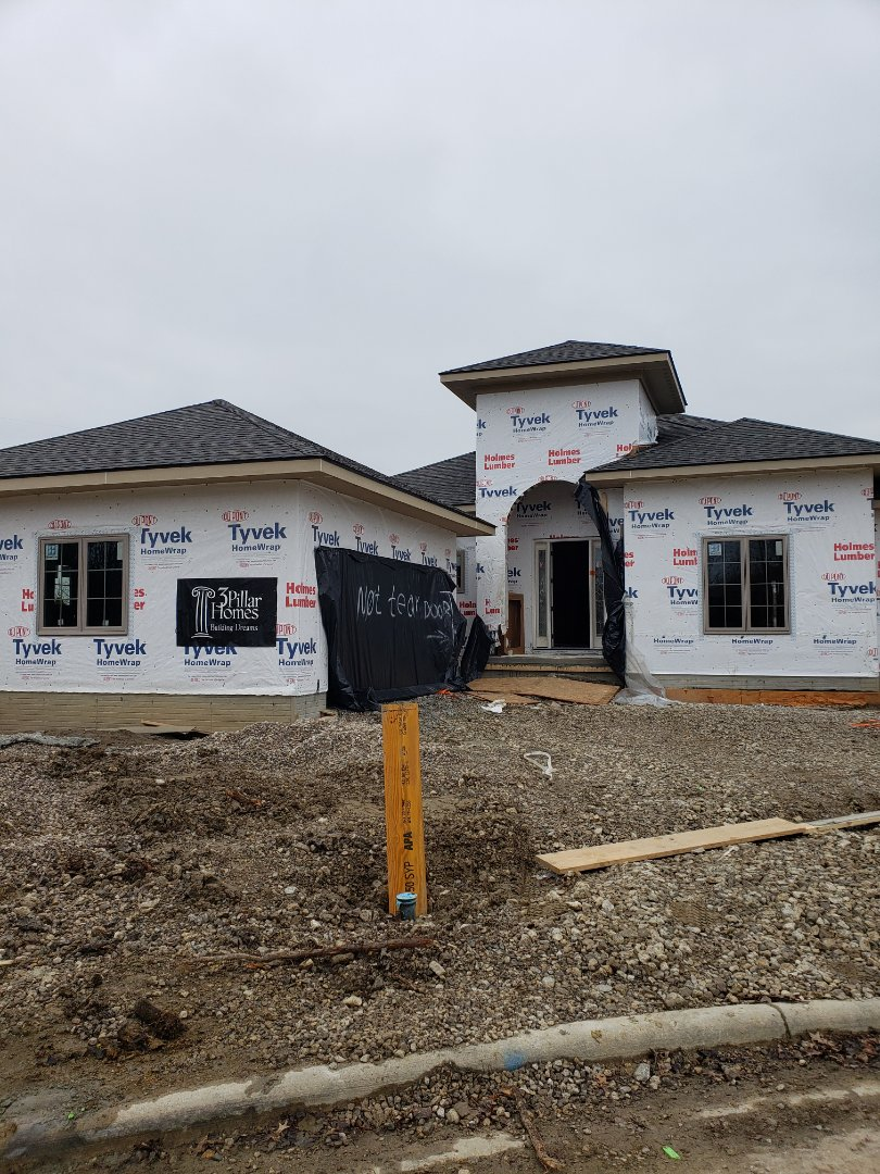 Dublin, OH - Installing Carrier system in a new construction 3 Pillar home near Dublin.