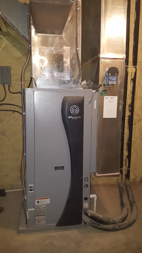 Dublin, OH - Waterfurnace 7 Series geothermal new construction install   Nu-Calgon IWave air purifier