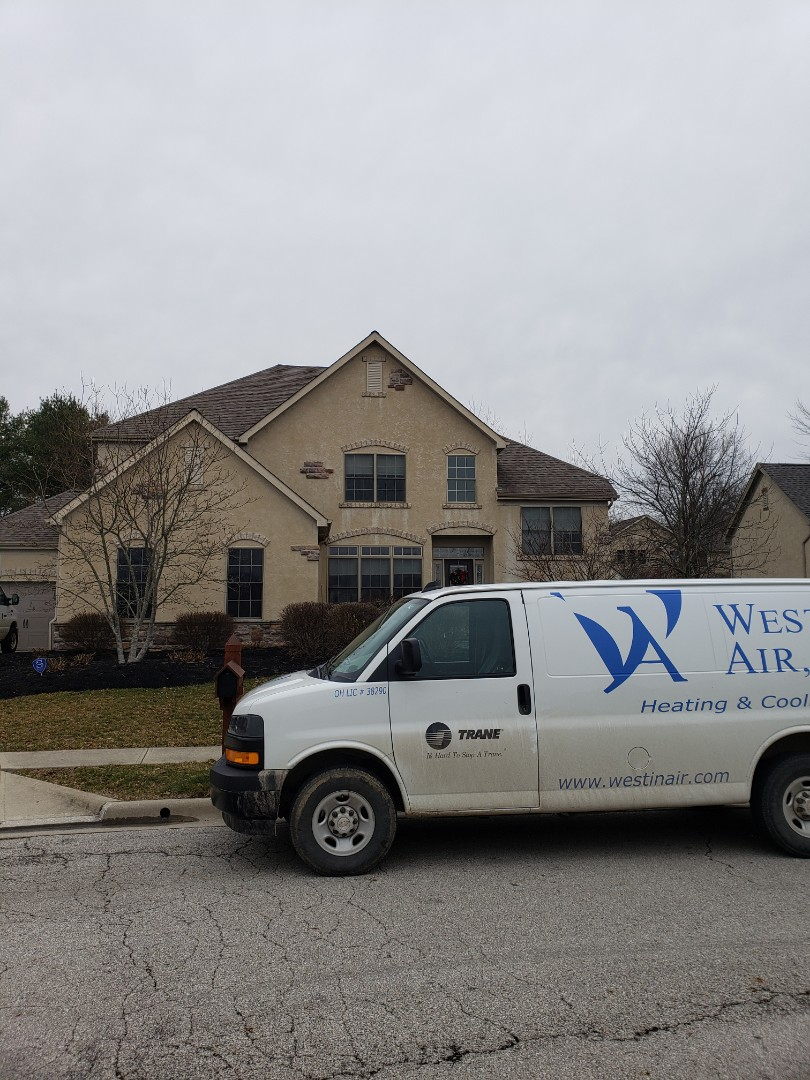 Westerville, OH - Installing Waterfurnace geothermal system in home near Westerville.