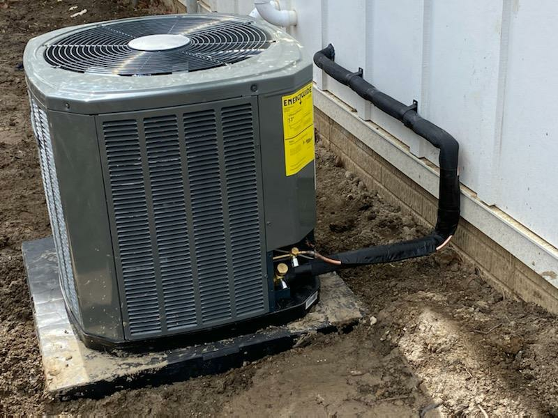 Galena, OH - Trane XR13 install in Westerville Ohio